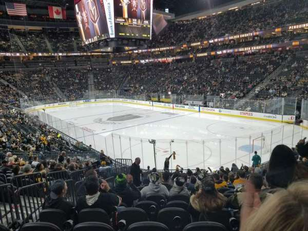 T-Mobile Arena, section: 19, row: T, seat: 4