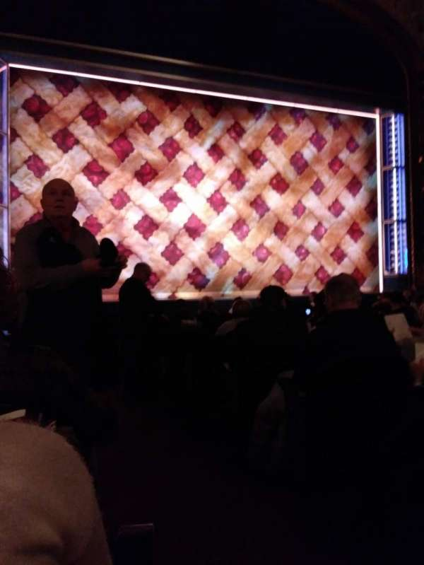 Brooks Atkinson Theatre, section: Orchestra L, row: L, seat: 1