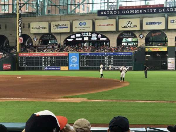 Minute Maid Park Section 127 Home Of Houston Astros