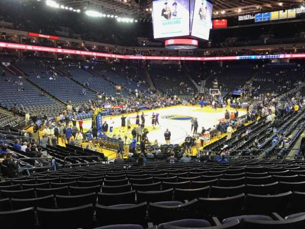 Oakland Arena, section: 105, row: 17, seat: 18