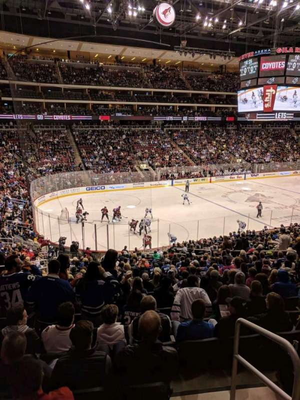 Gila River Arena, section: 114, row: XWC, seat: 15