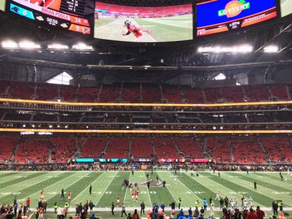 Mercedes-Benz Stadium, section: C110, row: 25, seat: 15