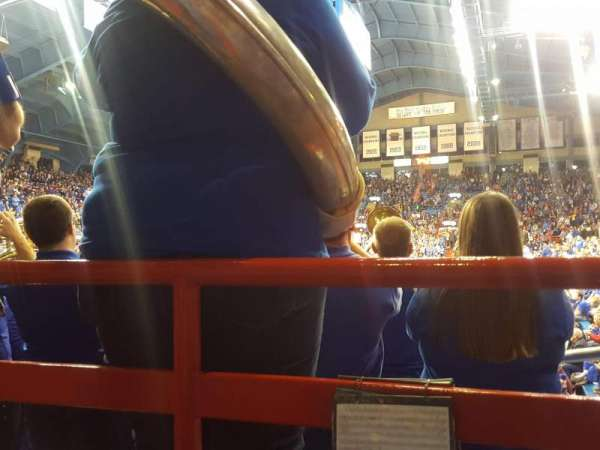 Allen Fieldhouse, section: 10, row: 1, seat: 9