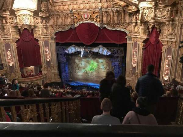 Oriental Theatre, section: Balcony r, row: P, seat: 360