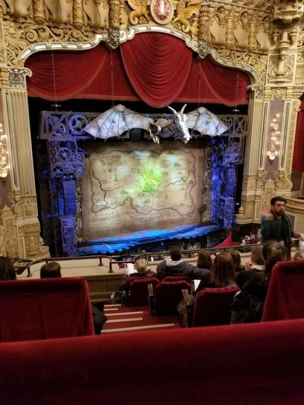James M. Nederlander Theatre, section: Balcony L, row: E, seat: 353