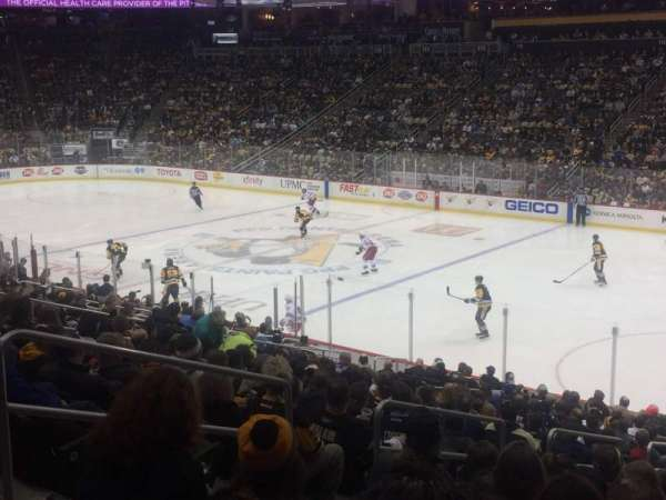 PPG Paints Arena, section: 121, row: W, seat: 17