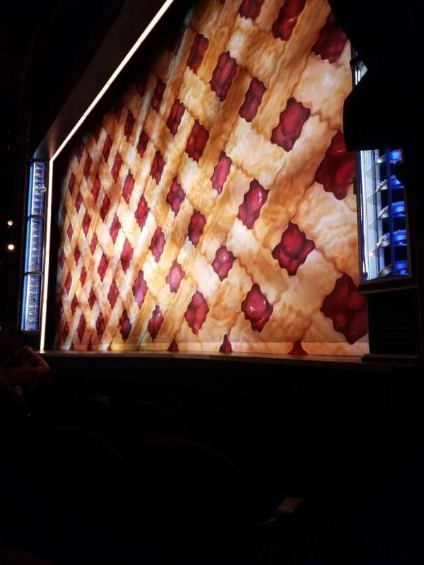 Brooks Atkinson Theatre, section: Orchestra R, row: B, seat: 14