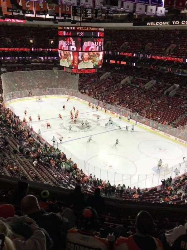 wells fargo center, section: 205, row: 8, seat: 9