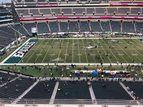 Lincoln Financial Field, section: 244, row: 5, seat: 3