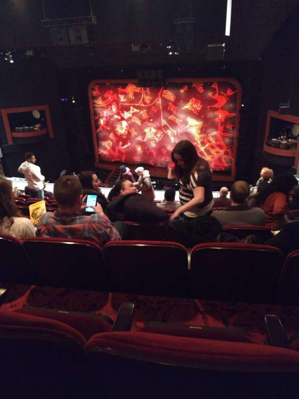 Minskoff Theatre, section: Mezzanine, row: J, seat: 147
