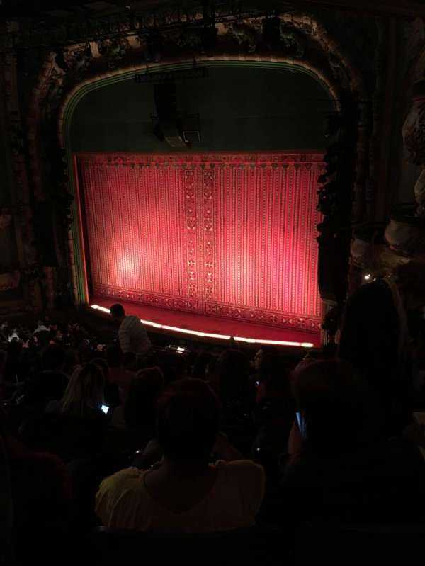 New Amsterdam Theatre, section: Mezzanine R, row: JJ, seat: 24