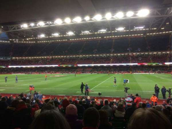 Principality Stadium, section: L7, row: 20, seat: 24