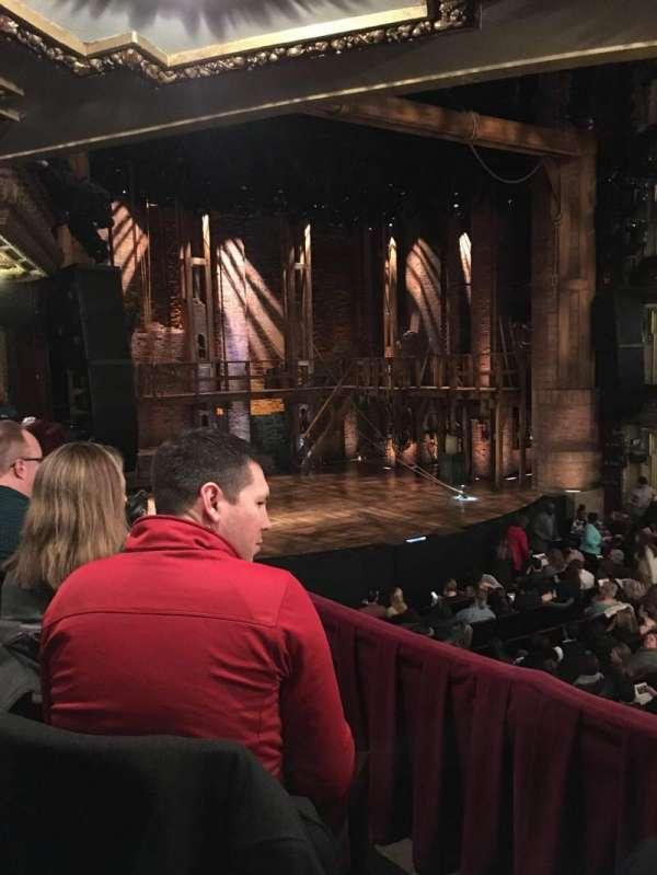 CIBC Theatre, section: Dress Circle L, row: B, seat: 13