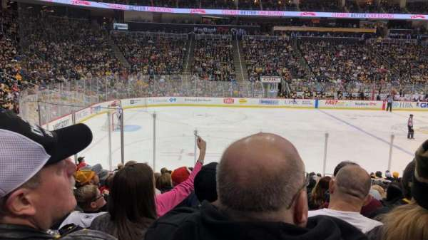 PPG Paints Arena, section: 114, row: P, seat: 8