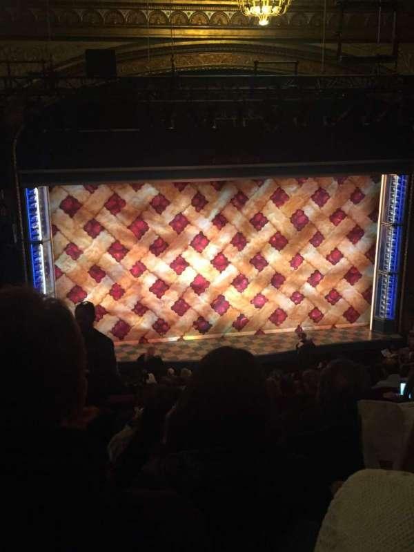 Brooks Atkinson Theatre, section: Rear Mezzanine LC, row: J, seat: 122