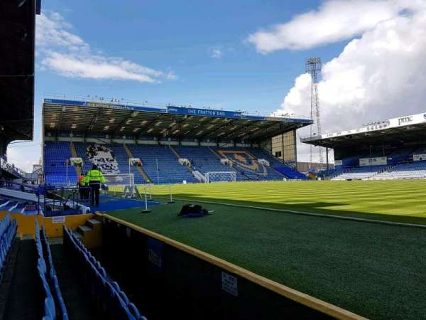 Fratton Park, section: south stand, row: w, seat: 81