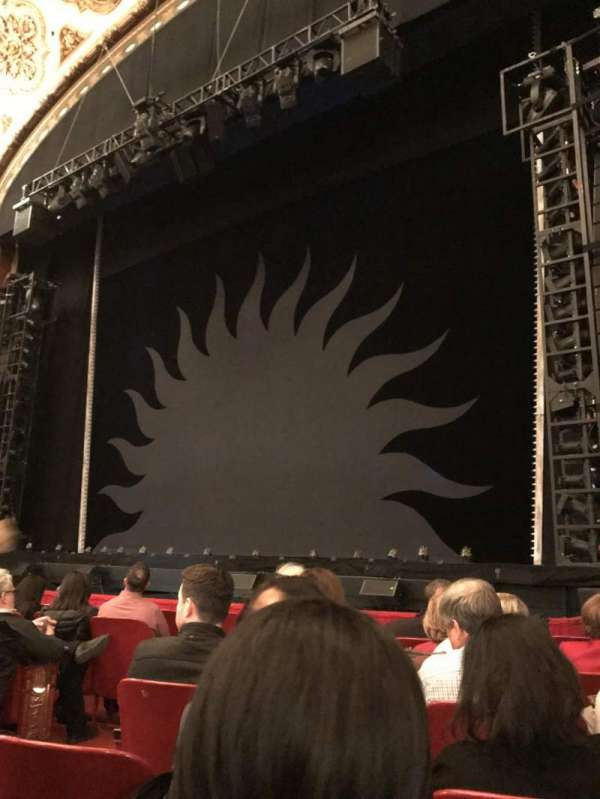 Cadillac Palace Theater, section: Orchestra R, row: G, seat: 10