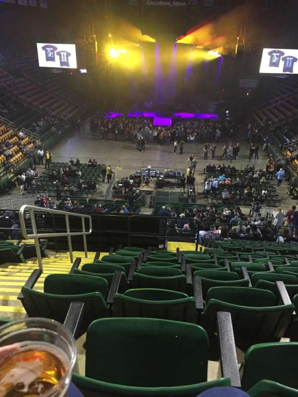 EagleBank Arena, section: 108, row: T, seat: 15