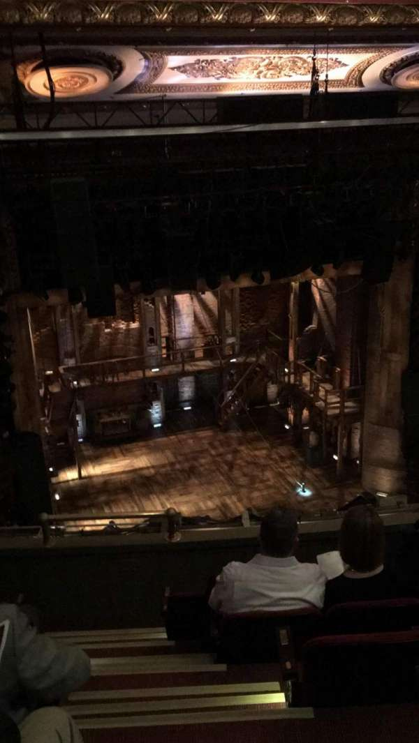 CIBC Theatre, section: Balcony L, row: F, seat: 1