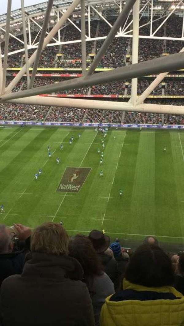 Aviva Stadium, section: 524, row: PP, seat: 22
