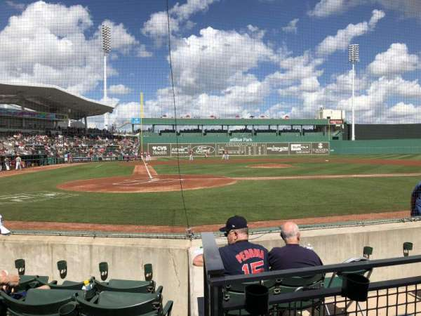 JetBlue Park, section: 103, row: 5, seat: 7