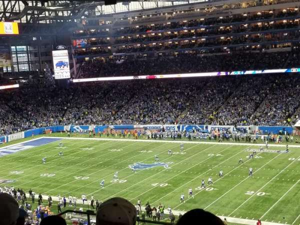 Ford Field, section: 335, row: 9, seat: 10