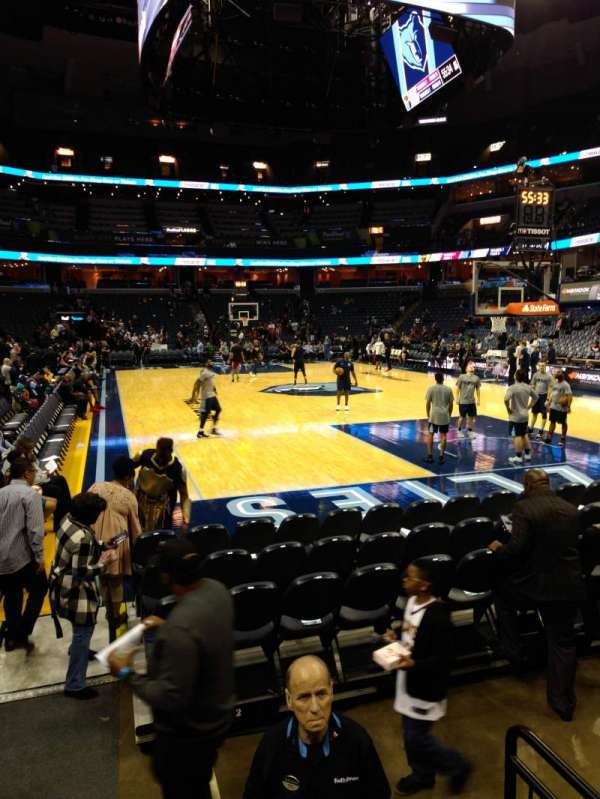 FedEx Forum, section: 116, row: J