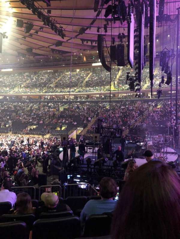 Madison Square Garden, section: 110, row: 10, seat: 5