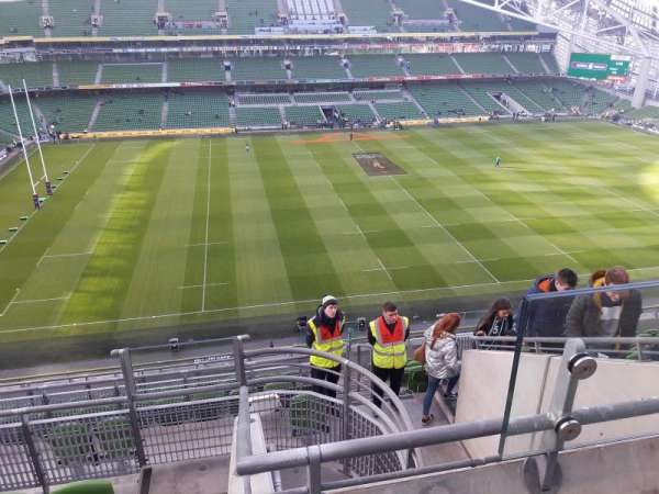Aviva Stadium, section: 506, row: M, seat: 16