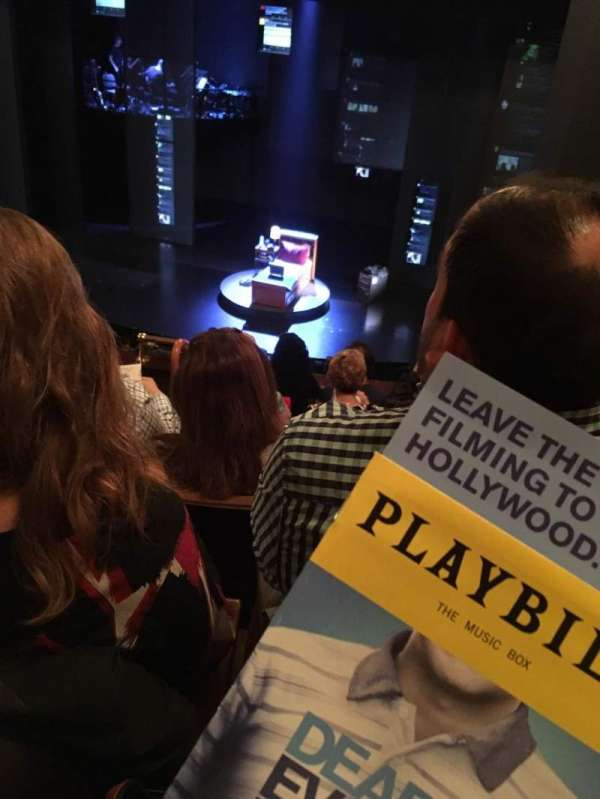 Music Box Theatre, section: Mezzanine R, row: F, seat: 4
