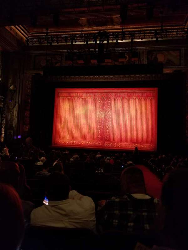 Hollywood Pantages Theatre, section: Orchestra C, row: X, seat: 101