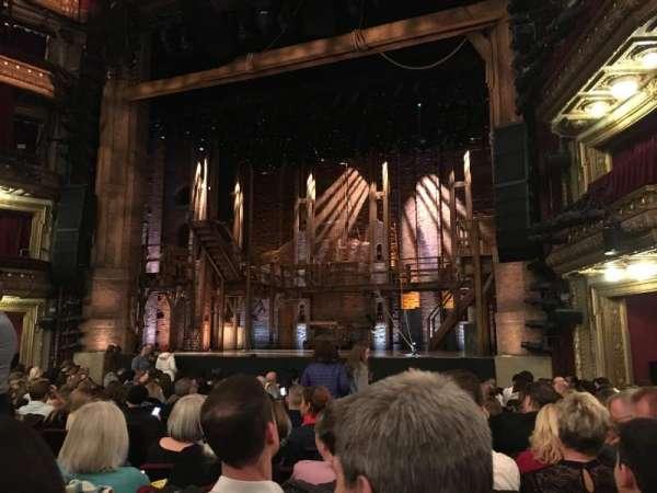 CIBC Theatre, section: Orchestra R, row: Q, seat: 8