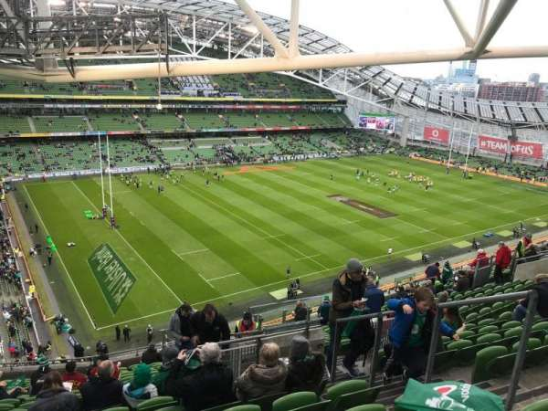 Aviva Stadium, section: 509, row: S, seat: 20