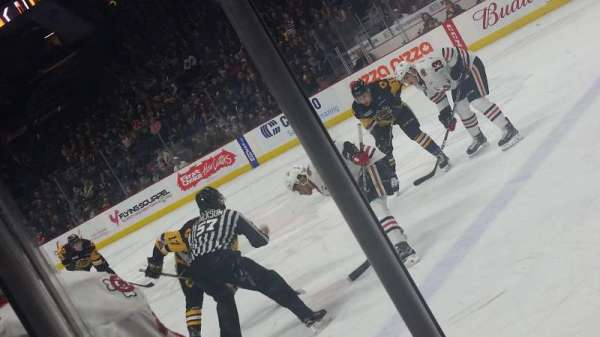 FirstOntario Centre, section: 107, row: 3, seat: 3