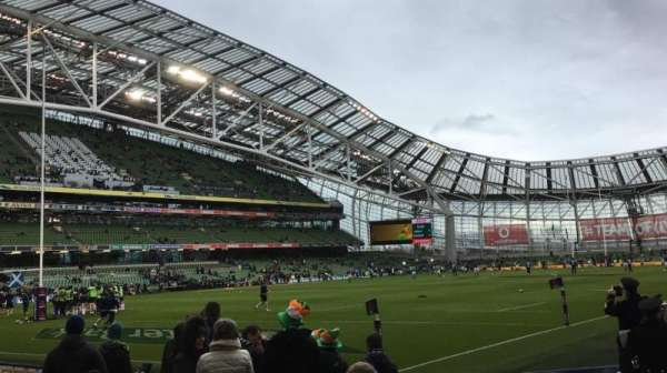 Aviva Stadium, section: 110, row: K, seat: 17