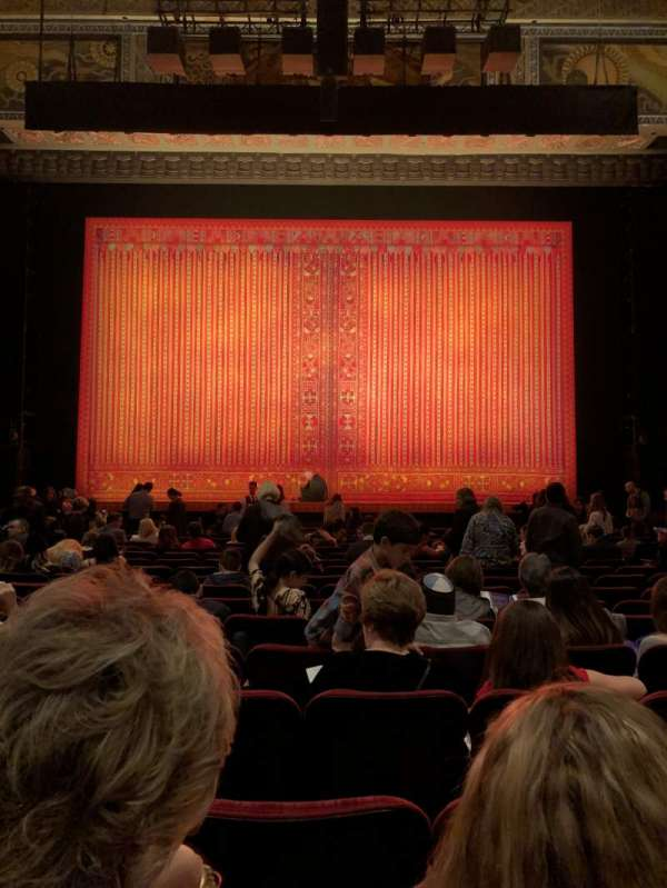 Hollywood Pantages Theatre, section: ORCHC, row: R, seat: 106
