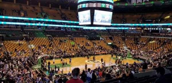 TD Garden, section: Club 115, row: E, seat: 15