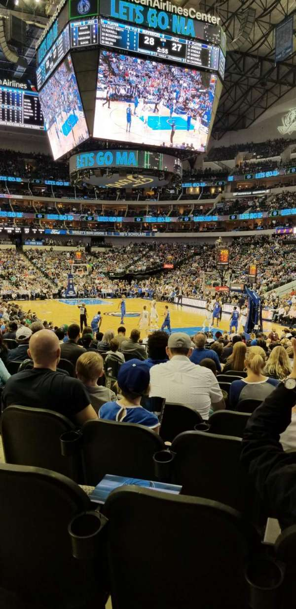 American Airlines Center, section: 102, row: M, seat: 11