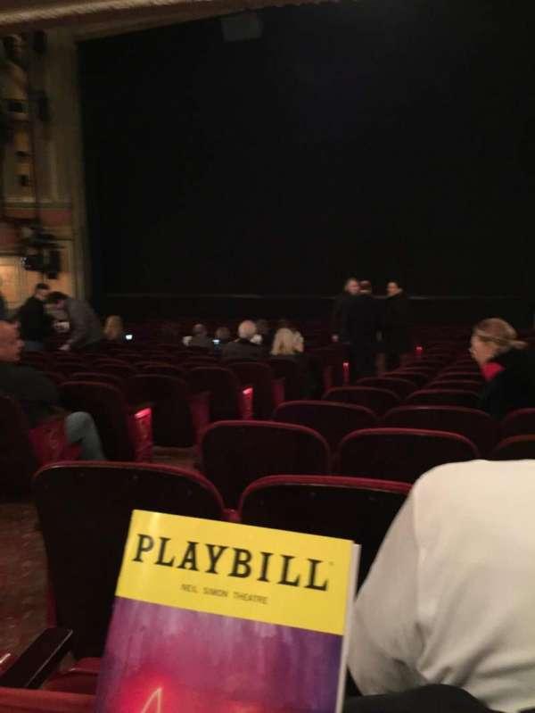 Neil Simon Theatre, section: Orchestra R, row: R, seat: 6