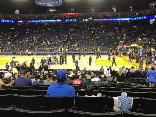 Oracle Arena, section: 128, row: 12, seat: 6