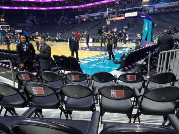 Spectrum Center, section: 112, row: B, seat: 4