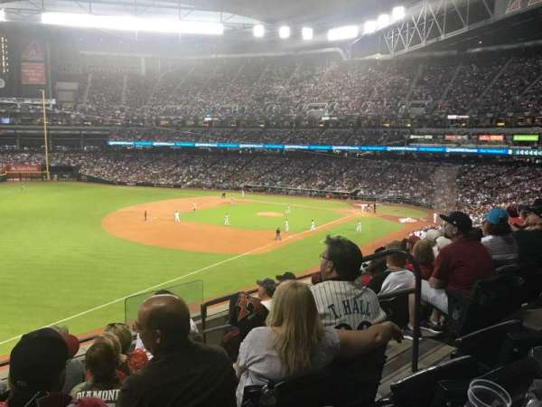 Chase Field, section: 218, row: 6, seat: 5