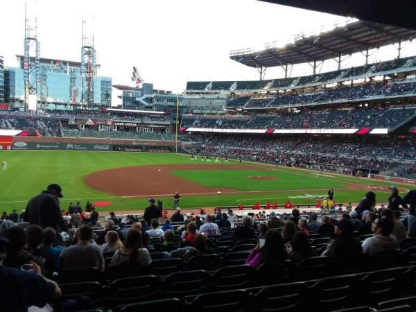 Truist Park, section: 135, row: 8 , seat: 17