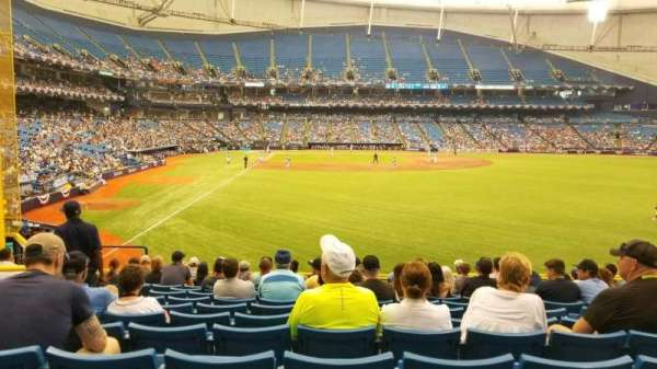 Tropicana Field, section: 142, row: FF, seat: 8