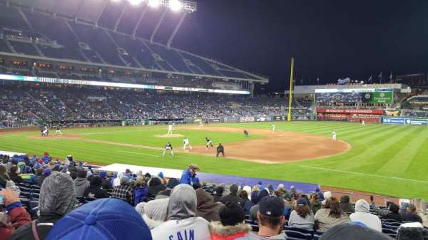 Kauffman Stadium, section: 139, row: U, seat: 5