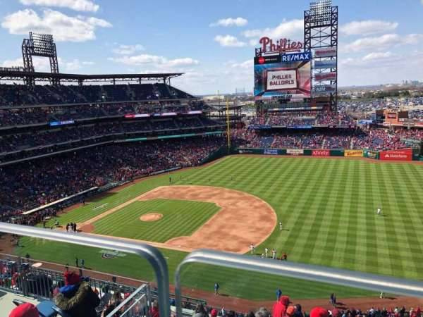 Citizens Bank Park, section: 412, row: 1, seat: 10