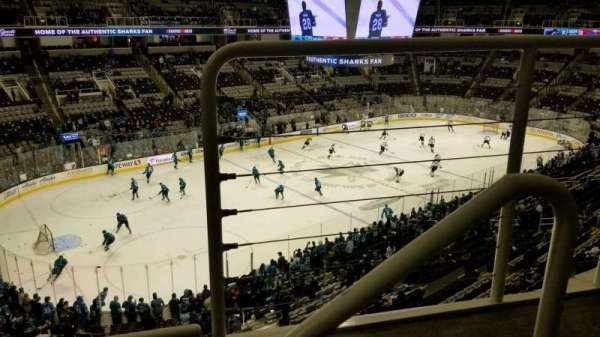 SAP Center, section: 218, row: 2, seat: 2