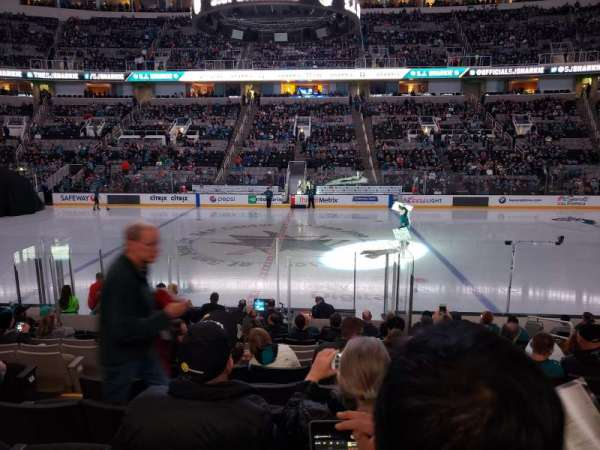 SAP Center, section: 115, row: 15, seat: 8