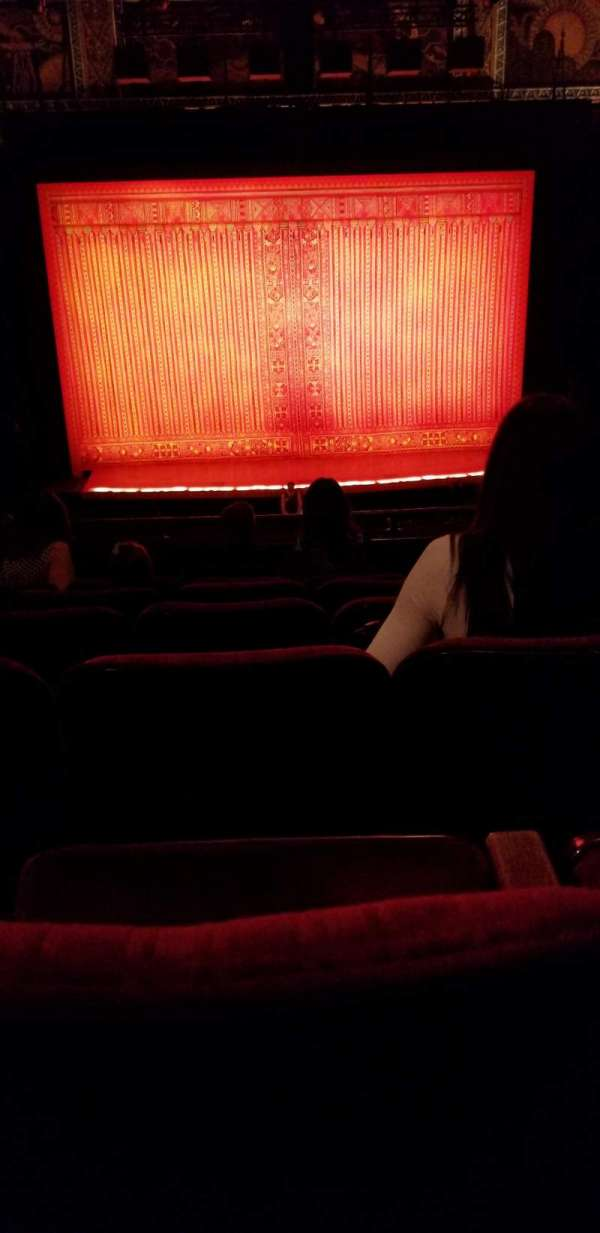 Hollywood Pantages Theatre, section: Mezzanine Center, row: F, seat: 111