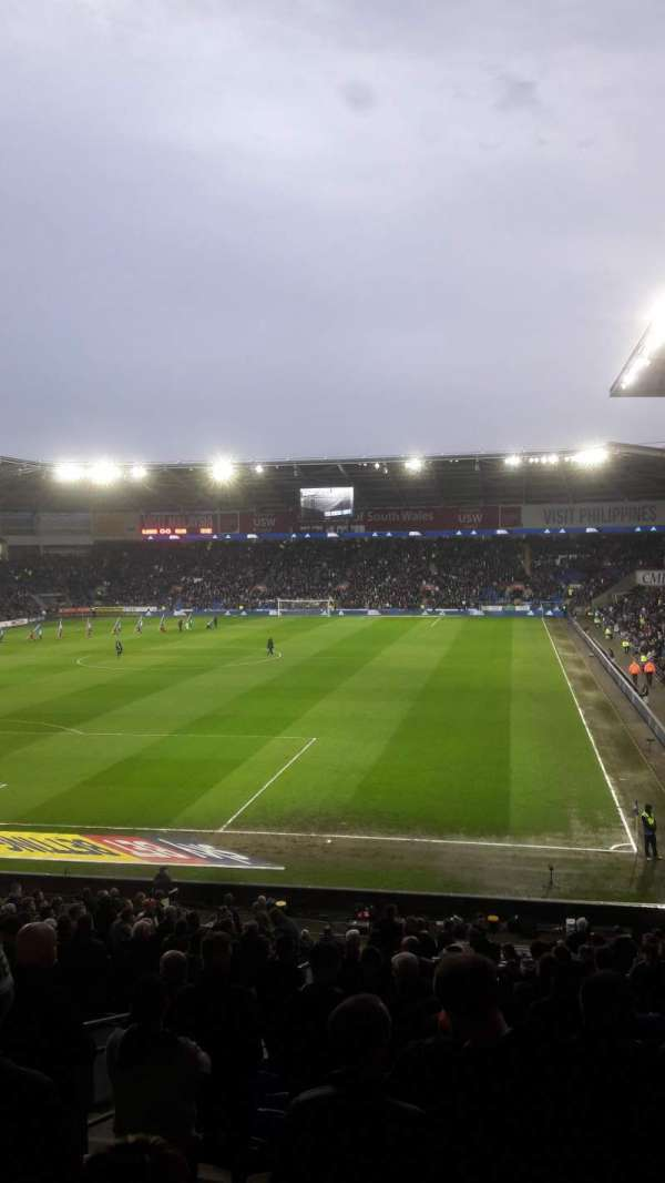 Cardiff City Stadium, section: 122, row: CC, seat: 128